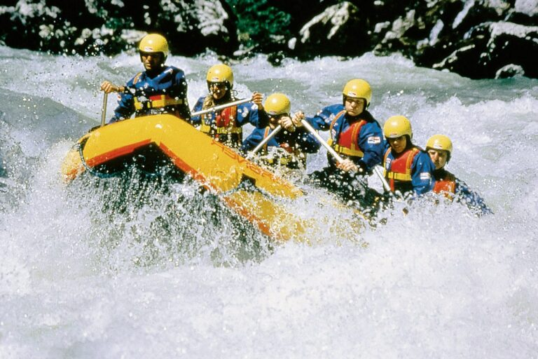 Rafting in der Salza.